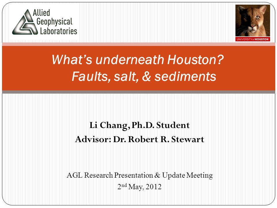 Li Chang, Ph.D. Student Advisor: Dr. Robert R. Stewart What's underneath Houston.