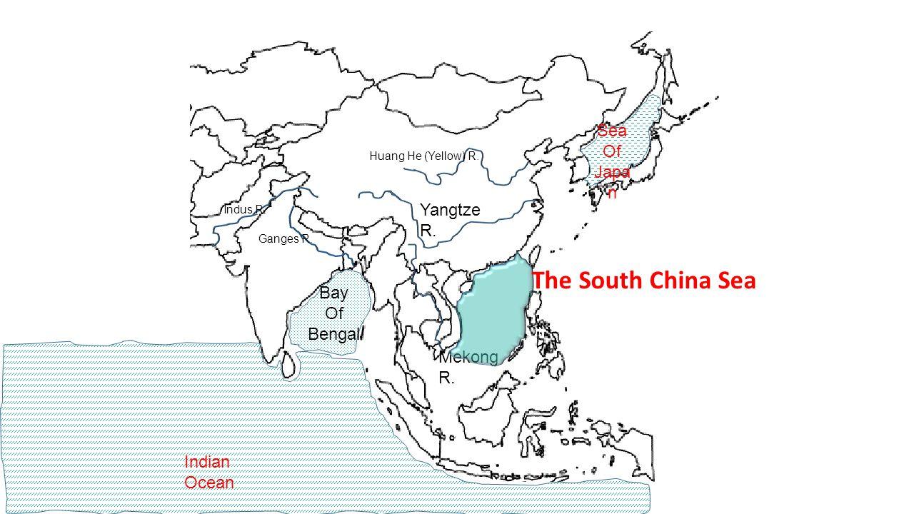 Ganges R. Huang He (Yellow) R. Indus R. Mekong R. Yangtze R. Bay Of Bengal Indian Ocean Sea Of Japa n The South China Sea