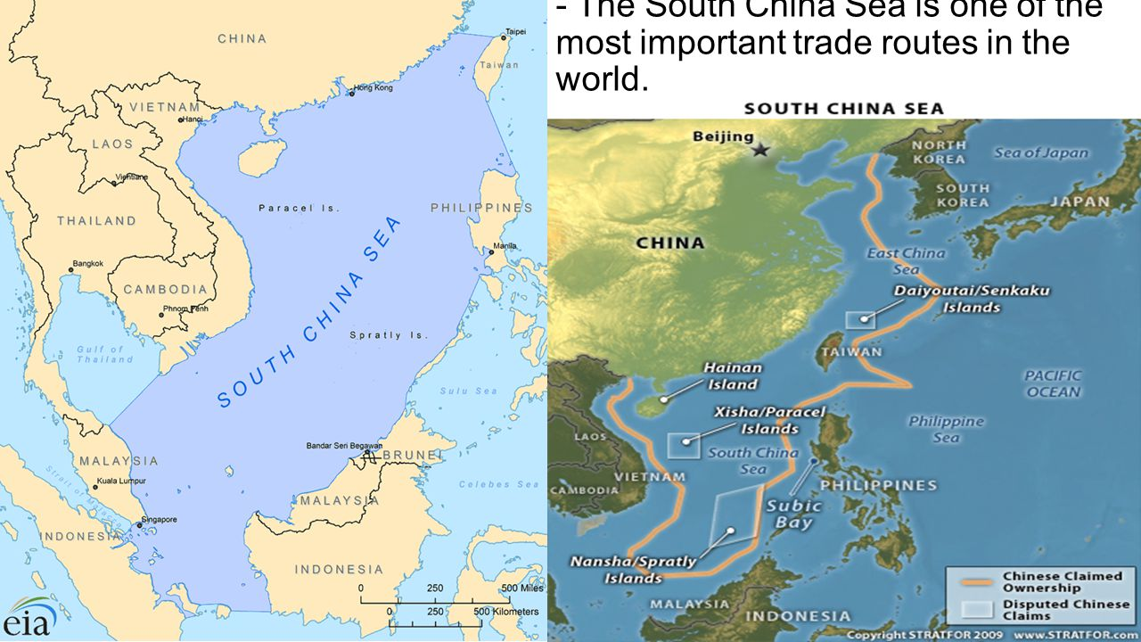 - The South China Sea is one of the most important trade routes in the world.
