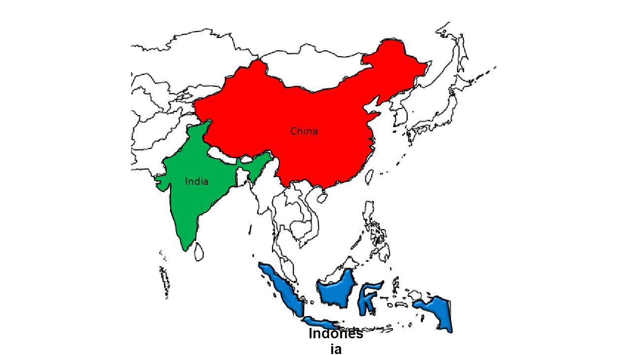 China Indones ia India