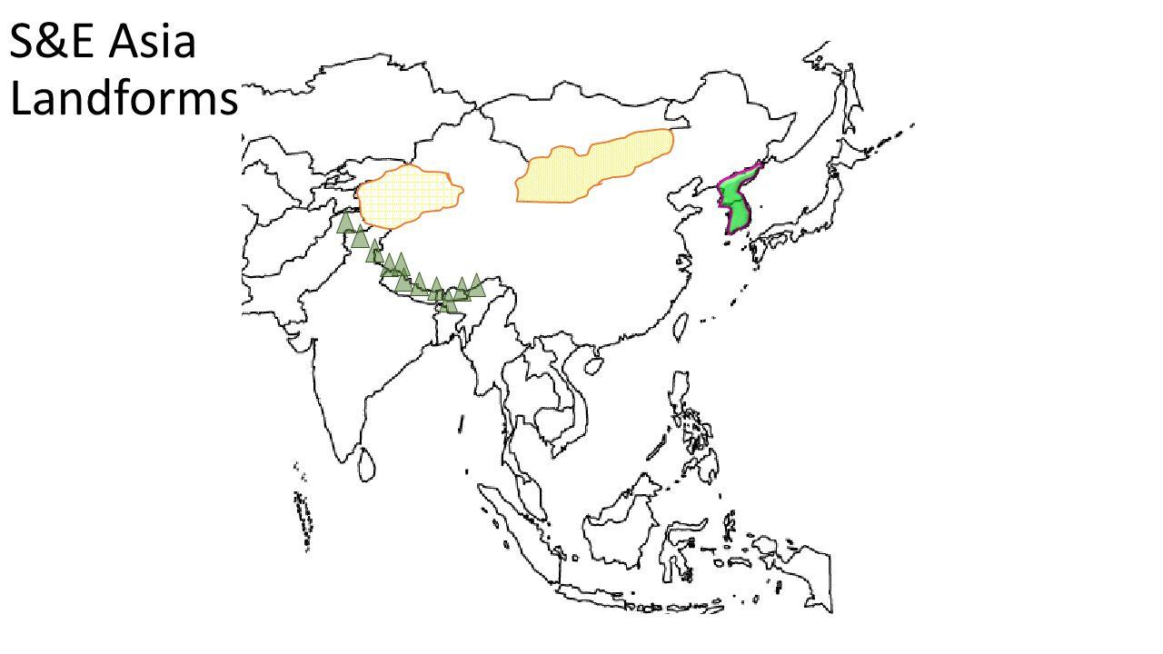 S&E Asia Landforms