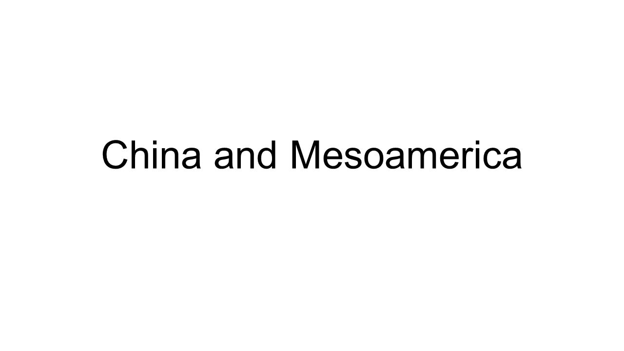 Ancient China By 5000 B.C.E.