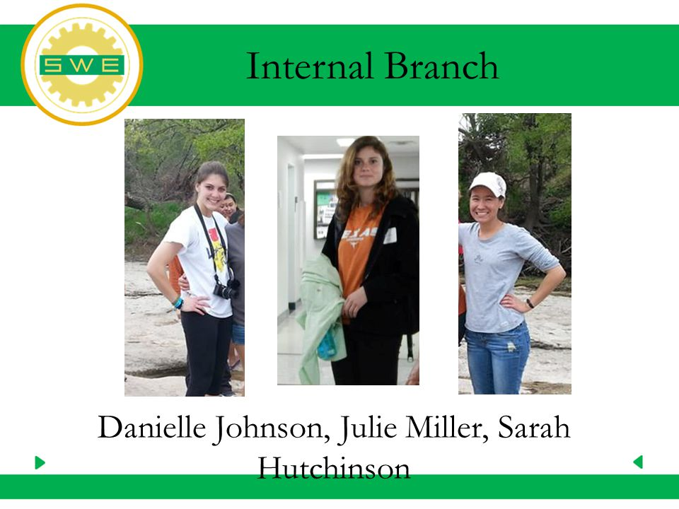 Danielle Johnson, Julie Miller, Sarah Hutchinson Internal Branch