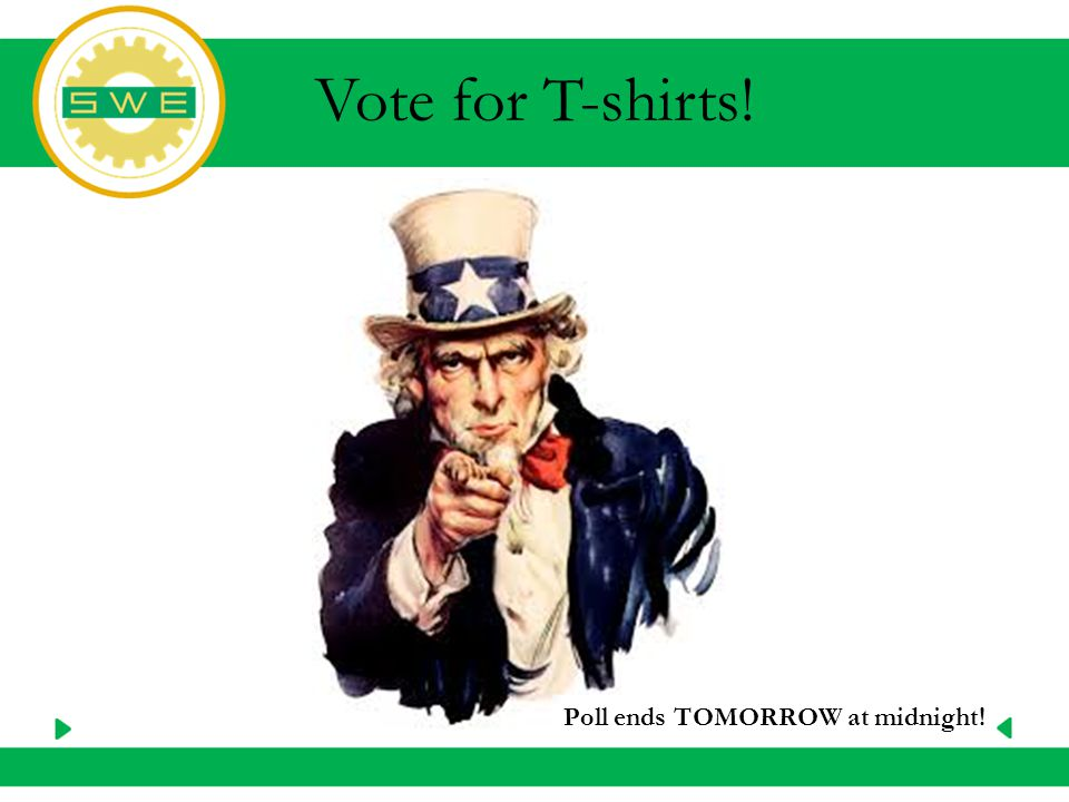 Vote for T-shirts! Poll ends TOMORROW at midnight!