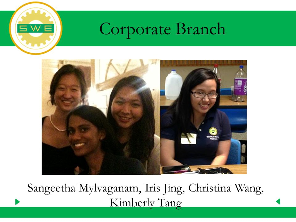 Sangeetha Mylvaganam, Iris Jing, Christina Wang, Kimberly Tang Corporate Branch