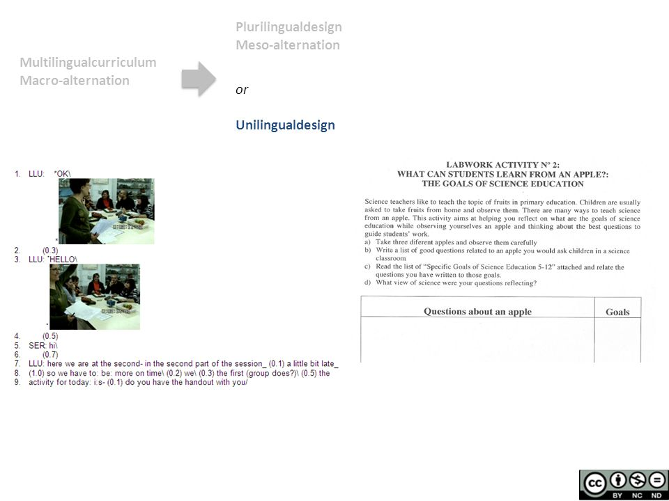 Multilingualcurriculum Macro-alternation Plurilingualdesign Meso-alternation or Unilingualdesign