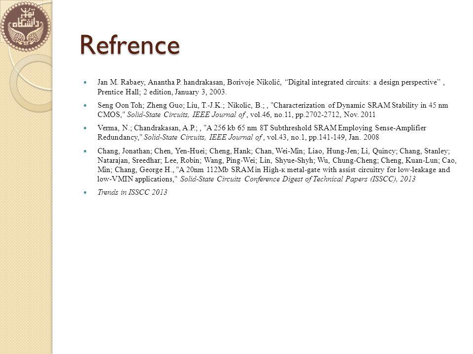 Refrence Jan M. Rabaey, Anantha P.