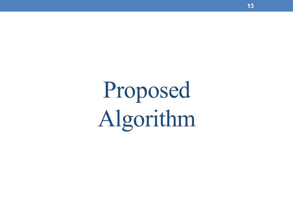 Proposed Algorithm 13
