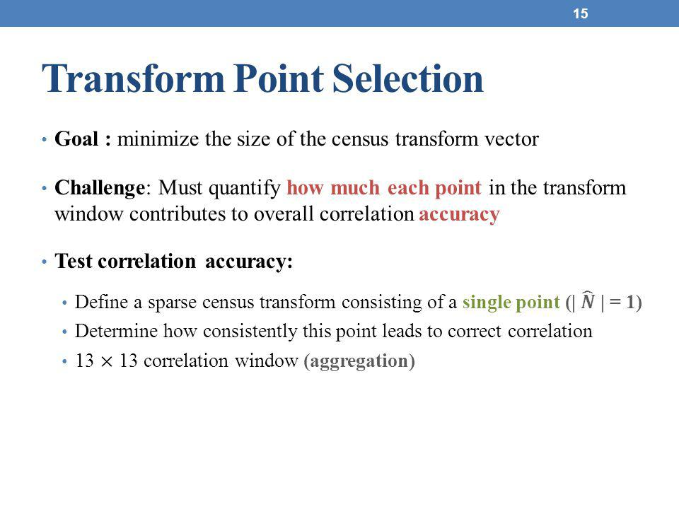 Transform Point Selection 15