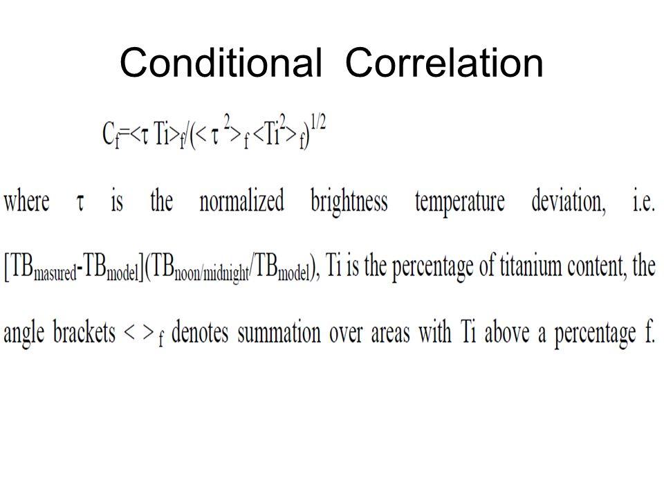 Conditional Correlation