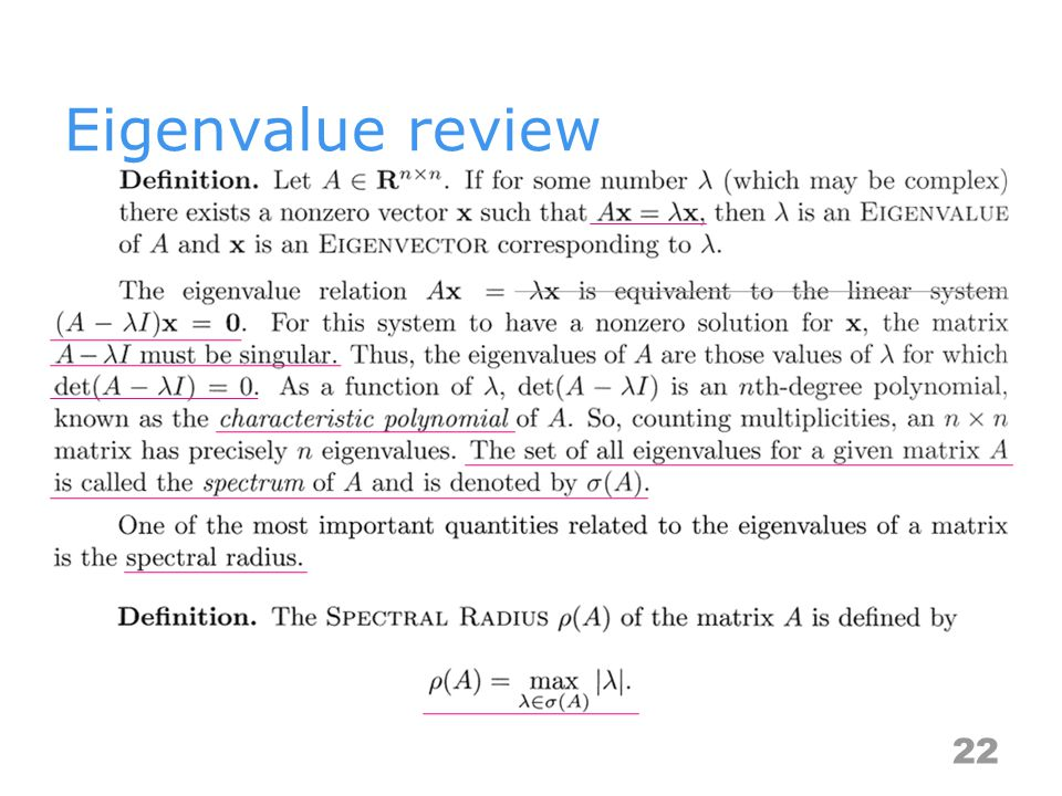 Eigenvalue review 22