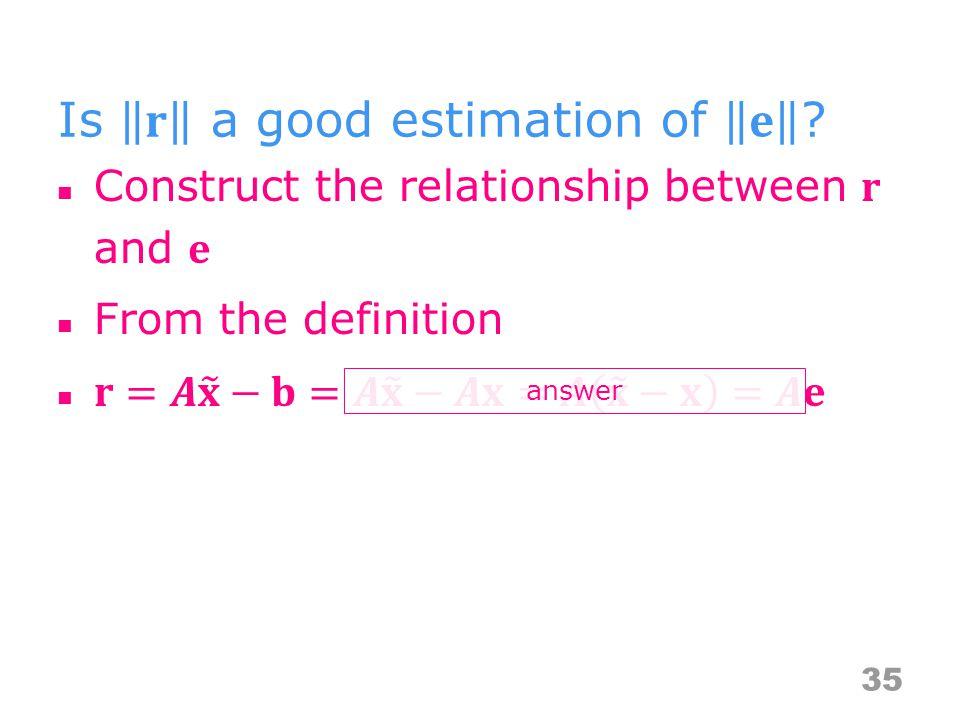 35 answer
