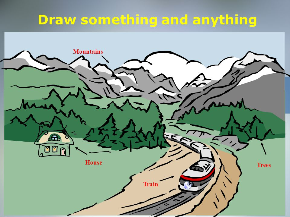 Home Objective Qualifications Education Employment Skills Draw something and anything Mountains Trees House Train