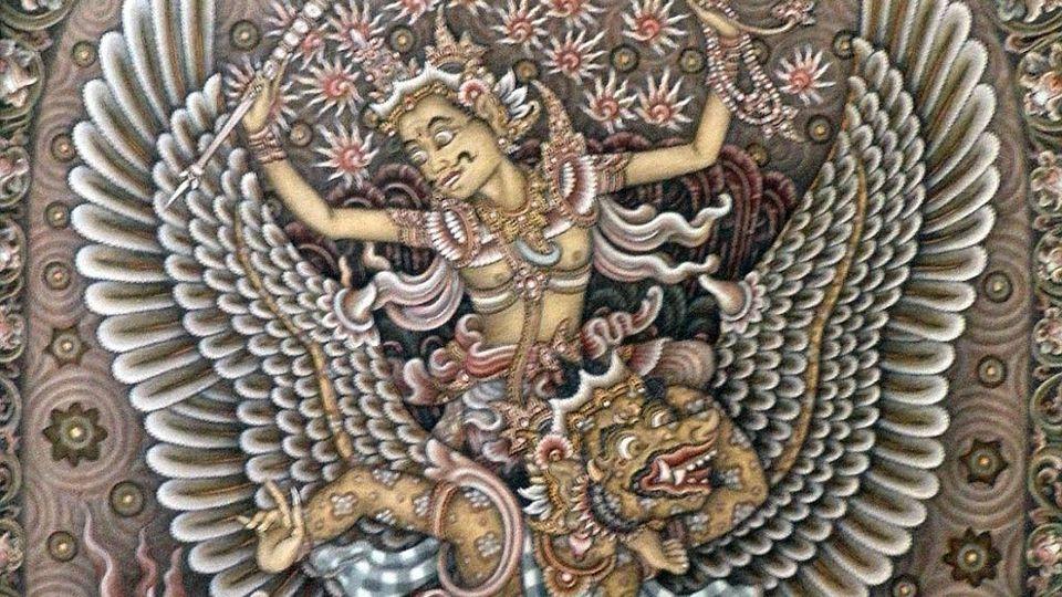 I Gusti Ketut Kobot 1917-1999) Battle At Kurusetra (Mahabharata Scene) 1966