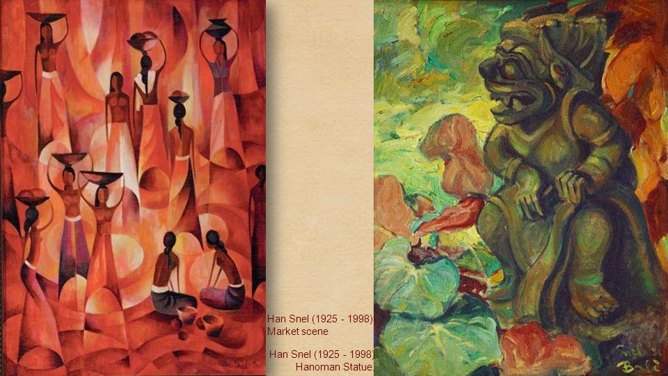 Han Snel (1925 - 1998) Portrait of Madi Siti, the wife of the artist Han Snel (1925 - 1998) Two Balinese Women
