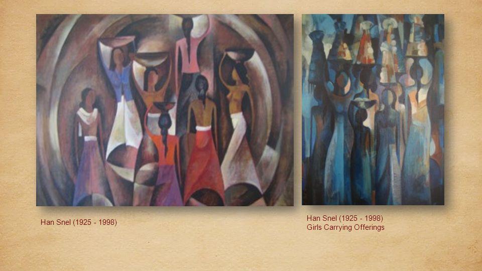 Han Snel (1925 - 1998) Hanoman Statue. Han Snel (1925 - 1998) Market scene