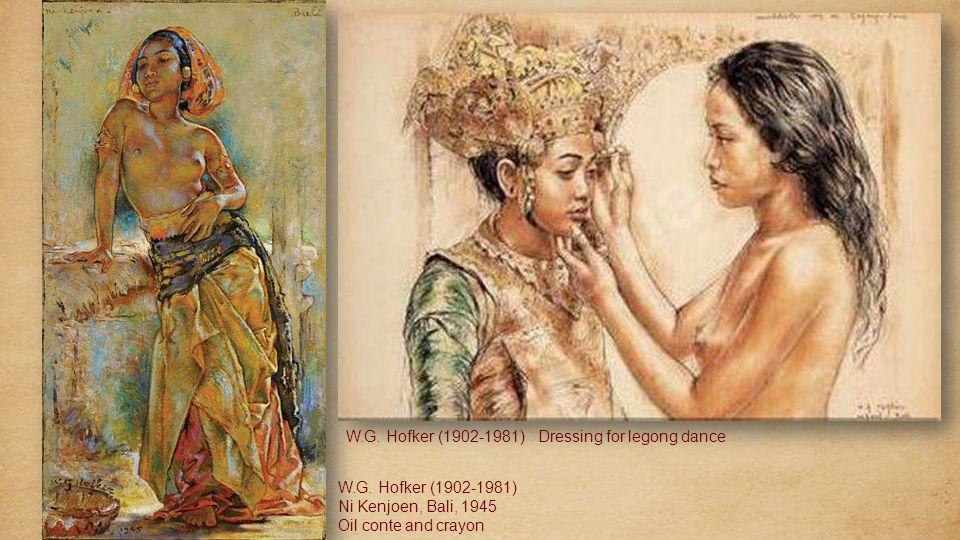 Willem Gerard Hofker (1902-1981, Dutch) Gadis-Gadis Bali dalam Pesta Pura Willem Gerard Hofker Temple At Pagan