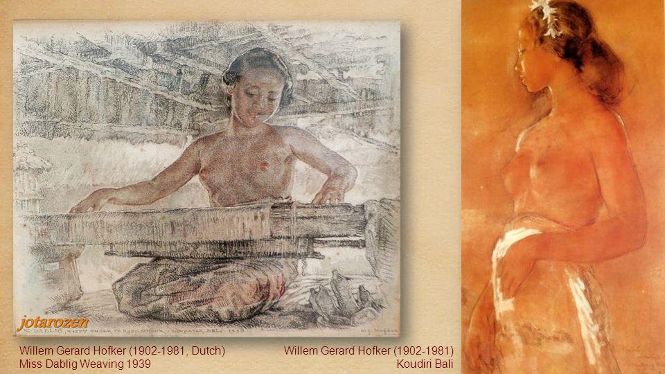 Willem Gerard Hofker (1902-1981, Dutch) Ni Kenyung by lamp-light; the favorite model of Willem Hofker Willem Gerard Hofker (1902-1981, Dutch) Miss Ken