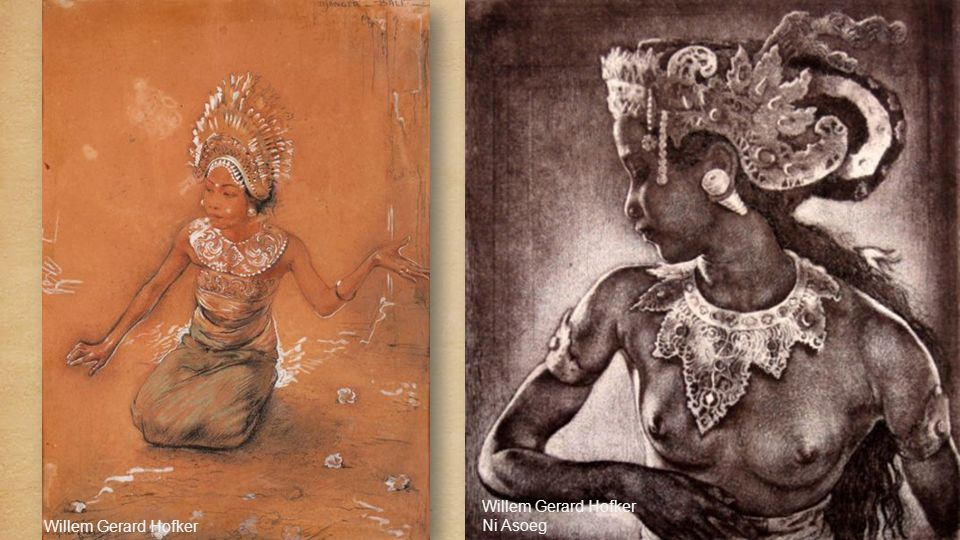 Willem Gerard Hofker (1902-1981, Dutch) Miss Dablig Weaving 1939 Willem Gerard Hofker (1902-1981) Koudiri Bali