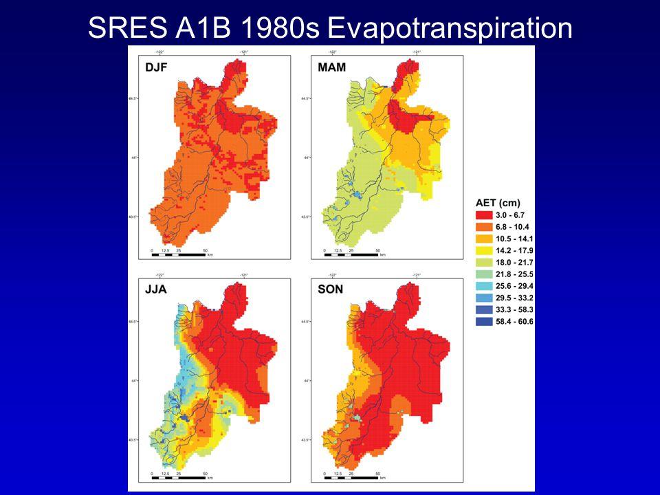SRES A1B 1980s Evapotranspiration