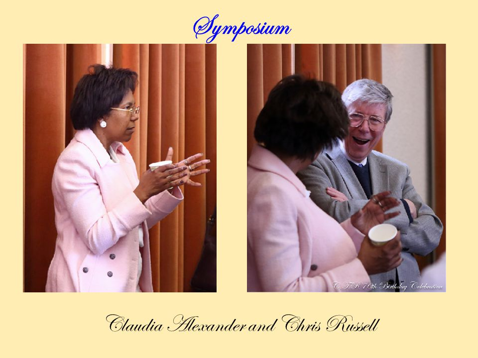 Symposium Claudia Alexander and Chris Russell