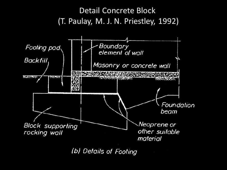 Detail Concrete Block (T. Paulay, M. J. N. Priestley, 1992)