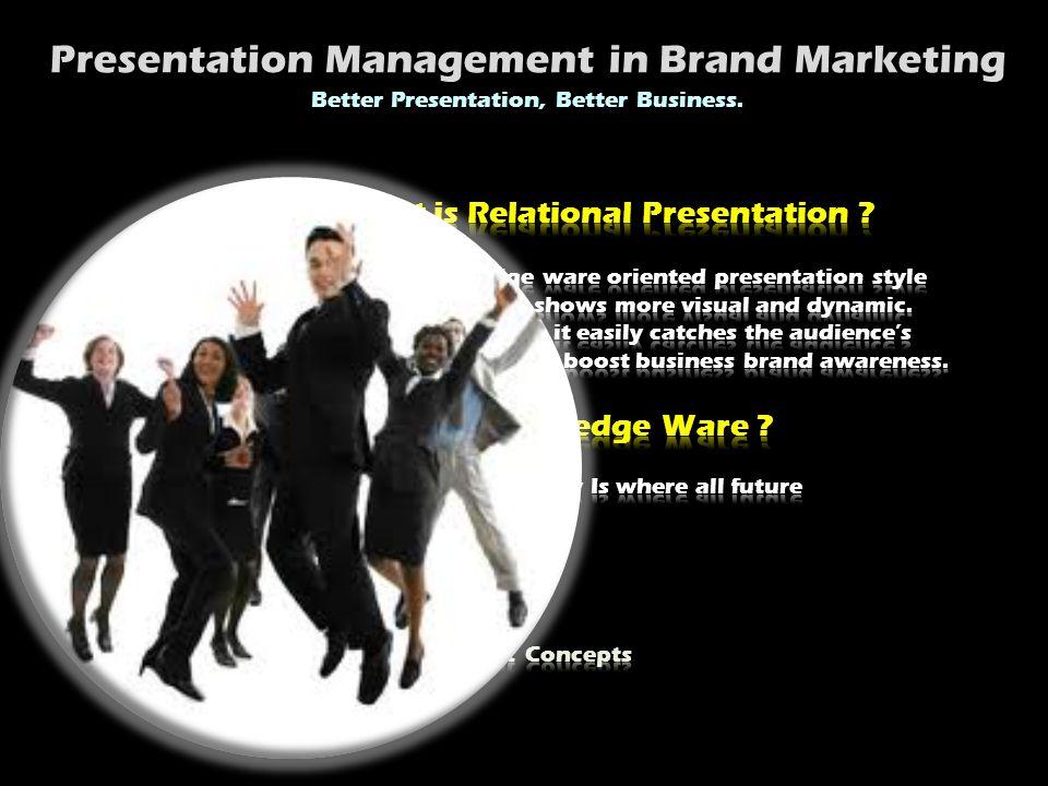 Presentation Management in Brand Marketing Better Presentation, Better Business.