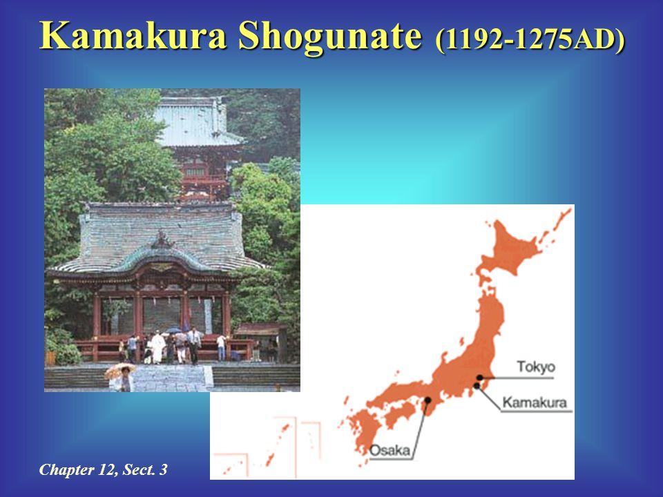 Kamakura Shogunate (1192-1275AD) Chapter 12, Sect. 3