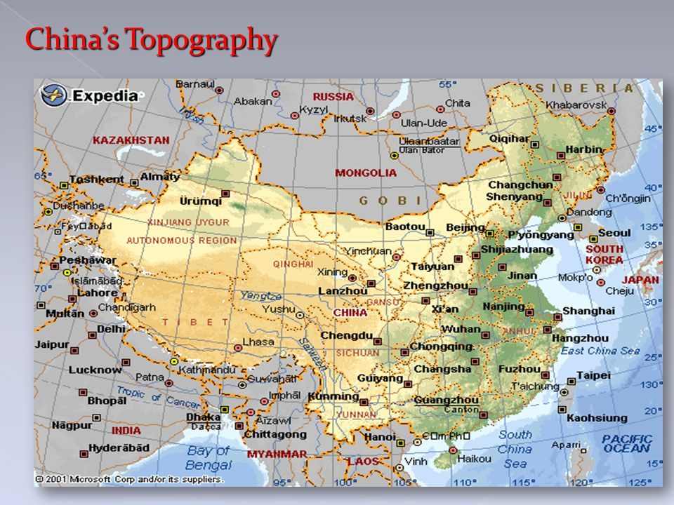 China's Topography