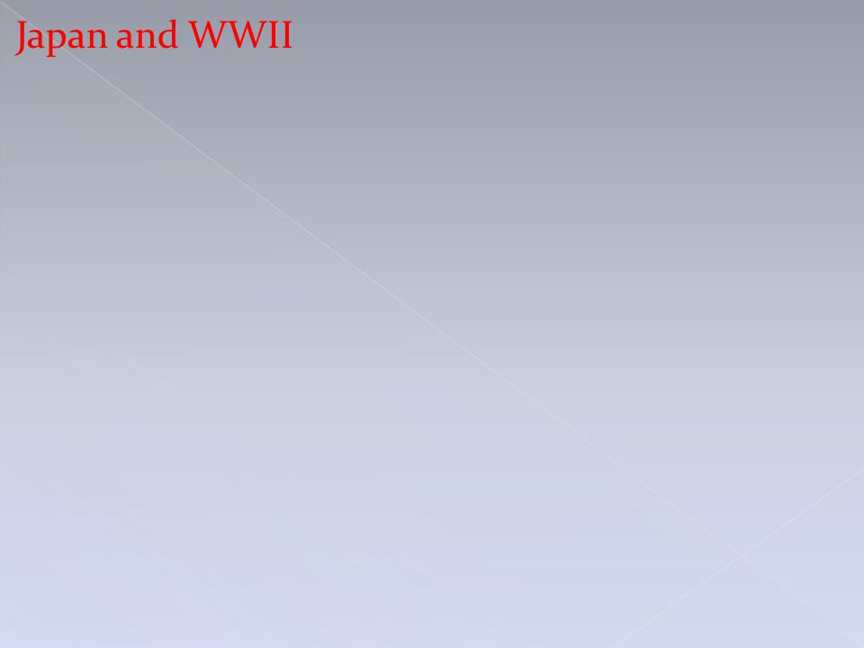 Japan and WWII