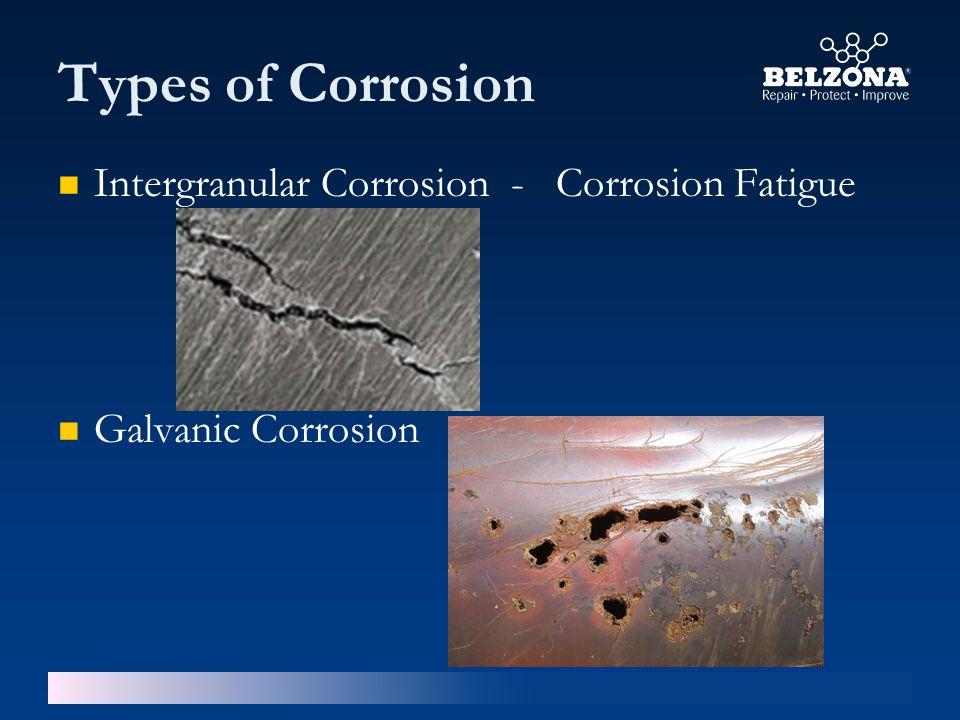 Types of Corrosion Intergranular Corrosion - Corrosion Fatigue Galvanic Corrosion