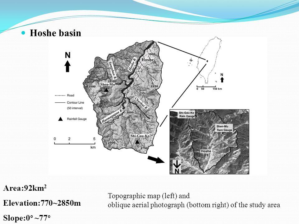 TyphoonEarthquake ROC0.7170.758 Area concordance76.974.5 (Overlapped landslide area / Total landslide area on digital map)*100%