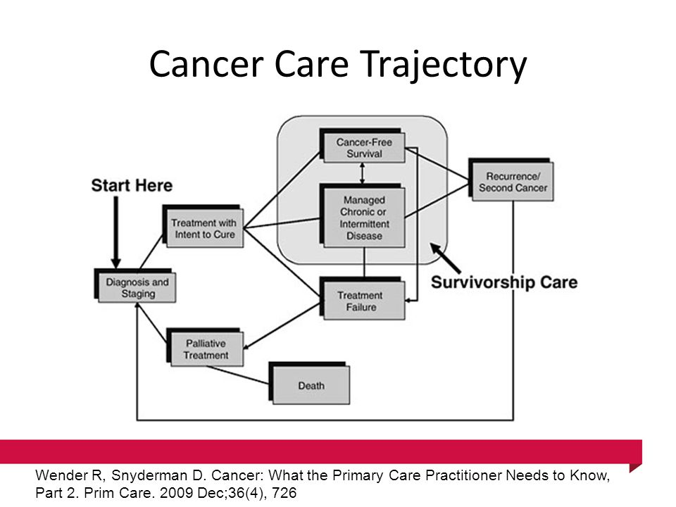 Cancer Care Trajectory Wender R, Snyderman D.