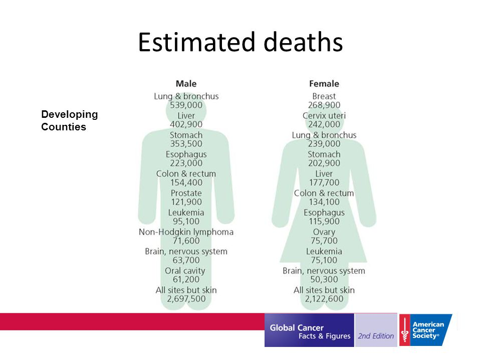 Developing Counties Estimated deaths
