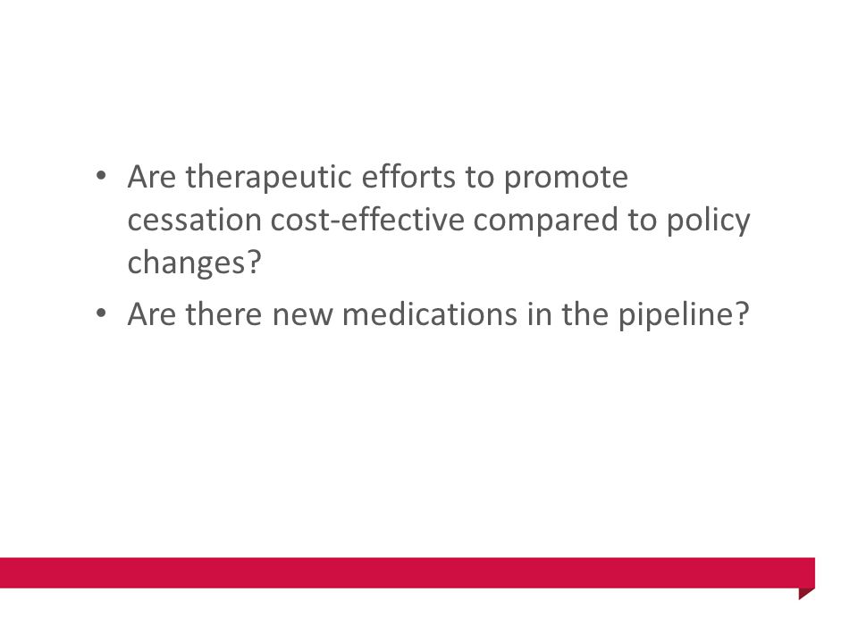Are therapeutic efforts to promote cessation cost-effective compared to policy changes.