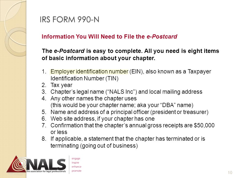How to File http://epostcard.form990.org When you access the system, you will leave the IRS site and file the e-Postcard with the IRS through Urban Institute.