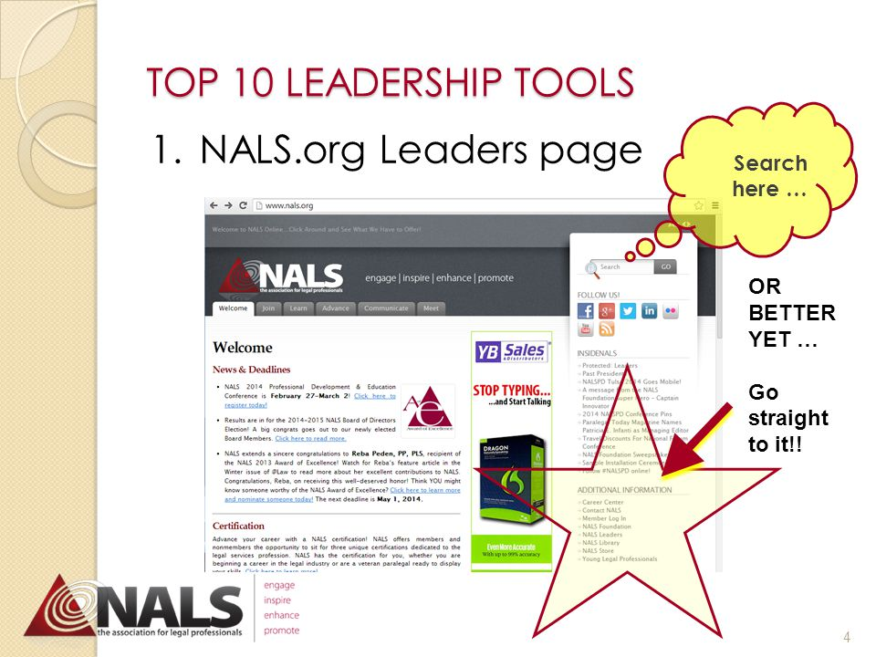 What tools do you need to get the job done. TOP 10 LEADERSHIP TOOLS Man is a tool-using animal.