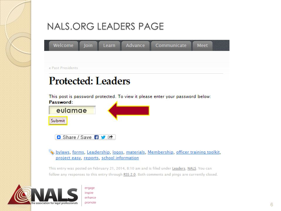 NALS.ORG LEADERS PAGE 5