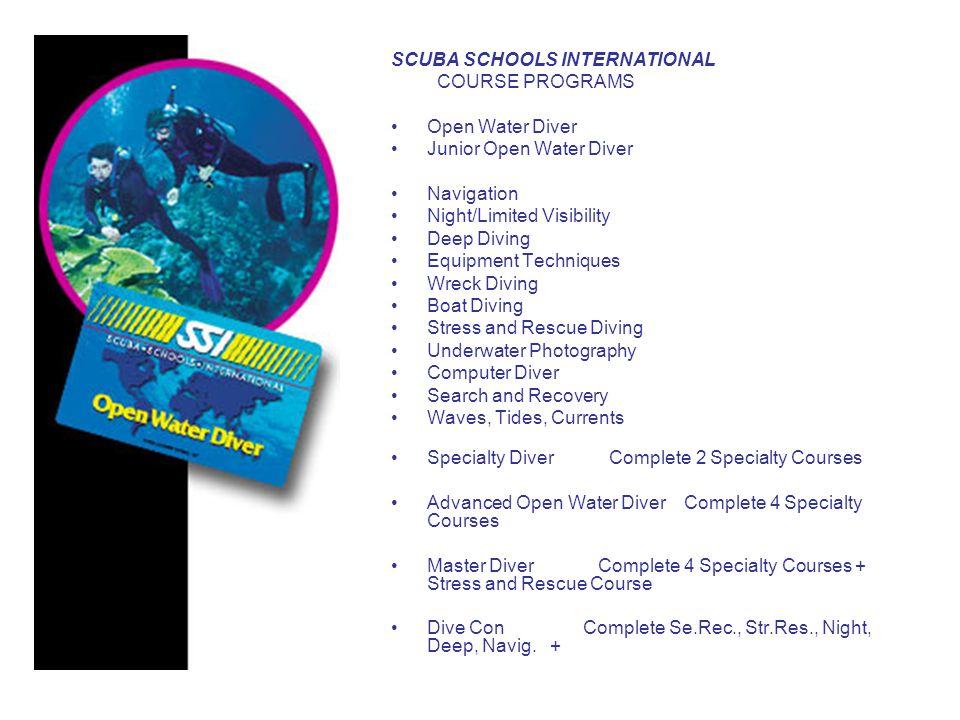 SCUBA SCHOOLS INTERNATIONAL STANDARTLARI SNORKEL DIVING Course Yas siniri yoktur.