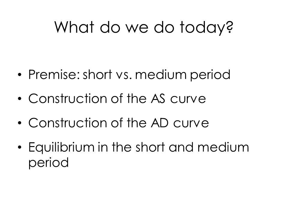What do we do today. Premise: short vs.