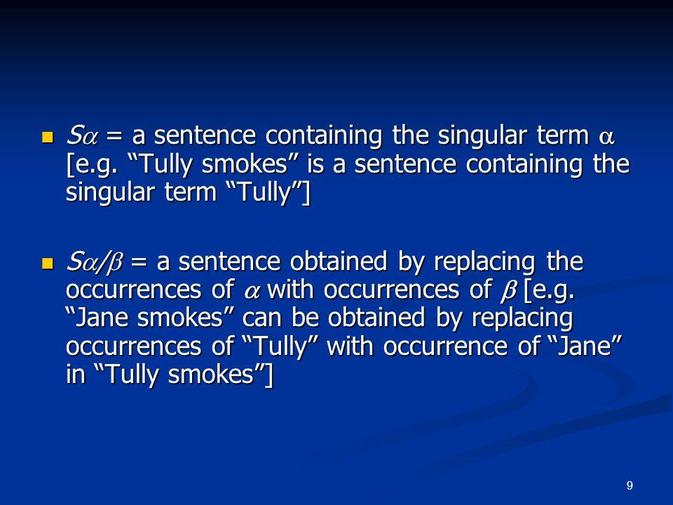 20 Sense vs.Reference Sense determines reference Sense determines reference r(n) = r(s)n)) [e.g.