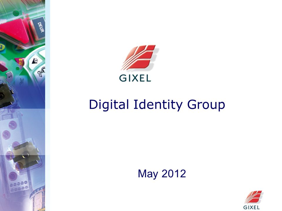 Digital Identity Group May 2012