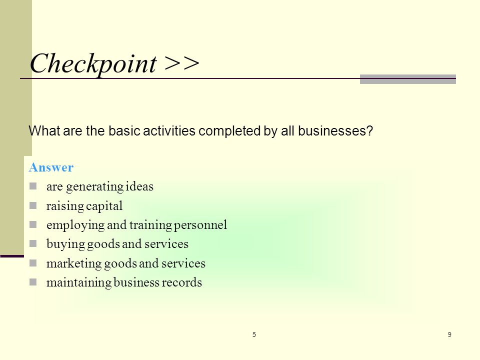 510 40. TYPES OF BUSINESSES Producers Intermediaries Service businesses