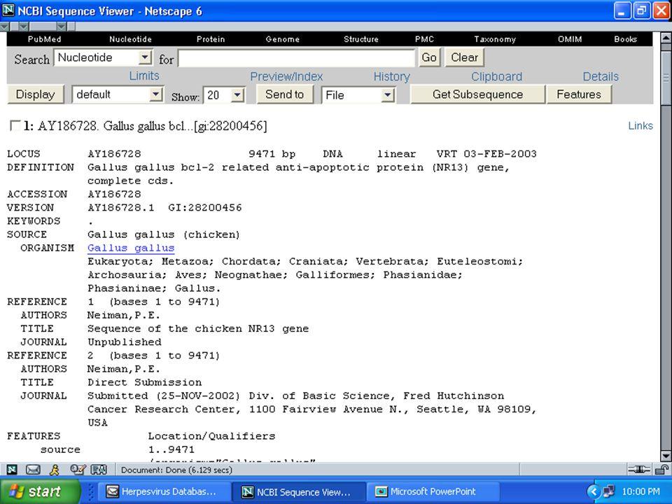 ANSC644 Bioinformatics-Database Mining 35