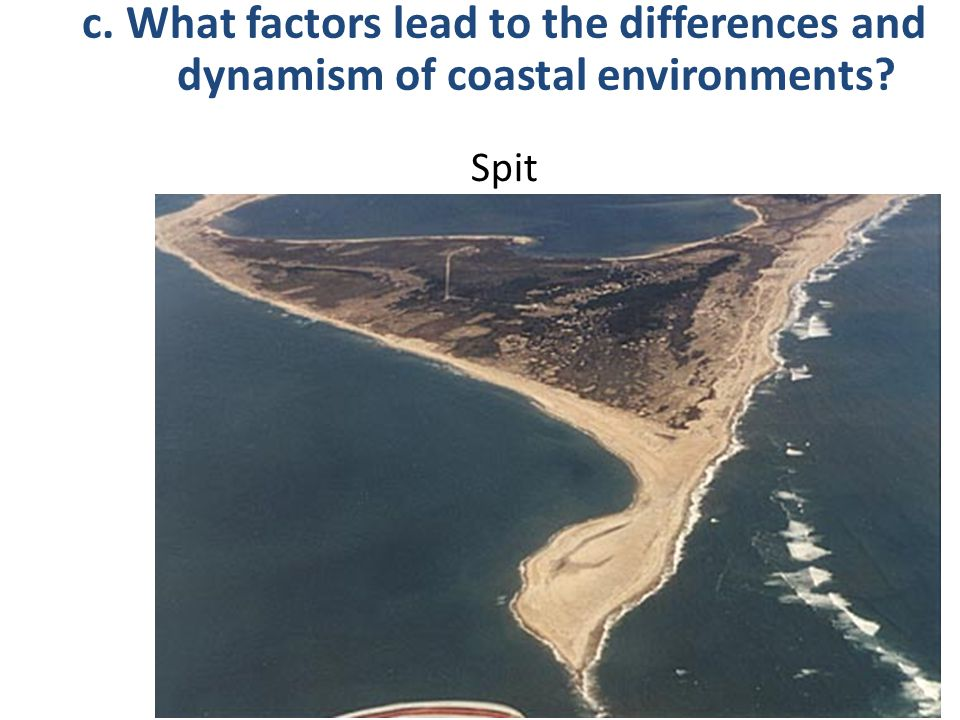 Spit c. What factors lead to the differences and dynamism of coastal environments?