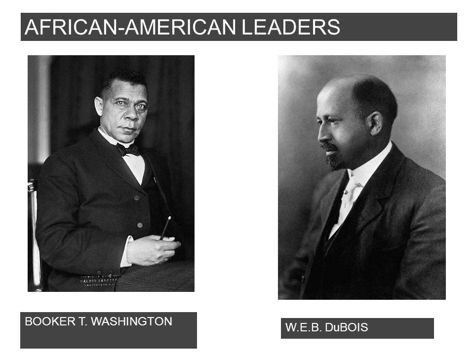 AFRICAN-AMERICAN LEADERS BOOKER T. WASHINGTON W.E.B. DuBOIS