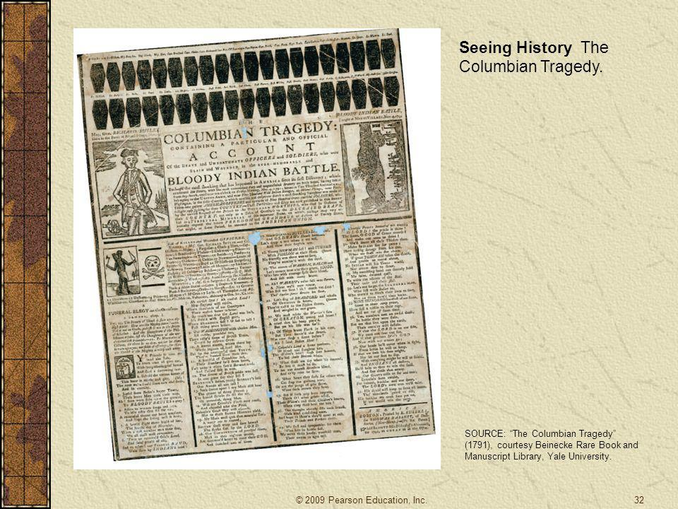 """32 Seeing History The Columbian Tragedy. SOURCE: """"The Columbian Tragedy"""" (1791), courtesy Beinecke Rare Book and Manuscript Library, Yale University."""