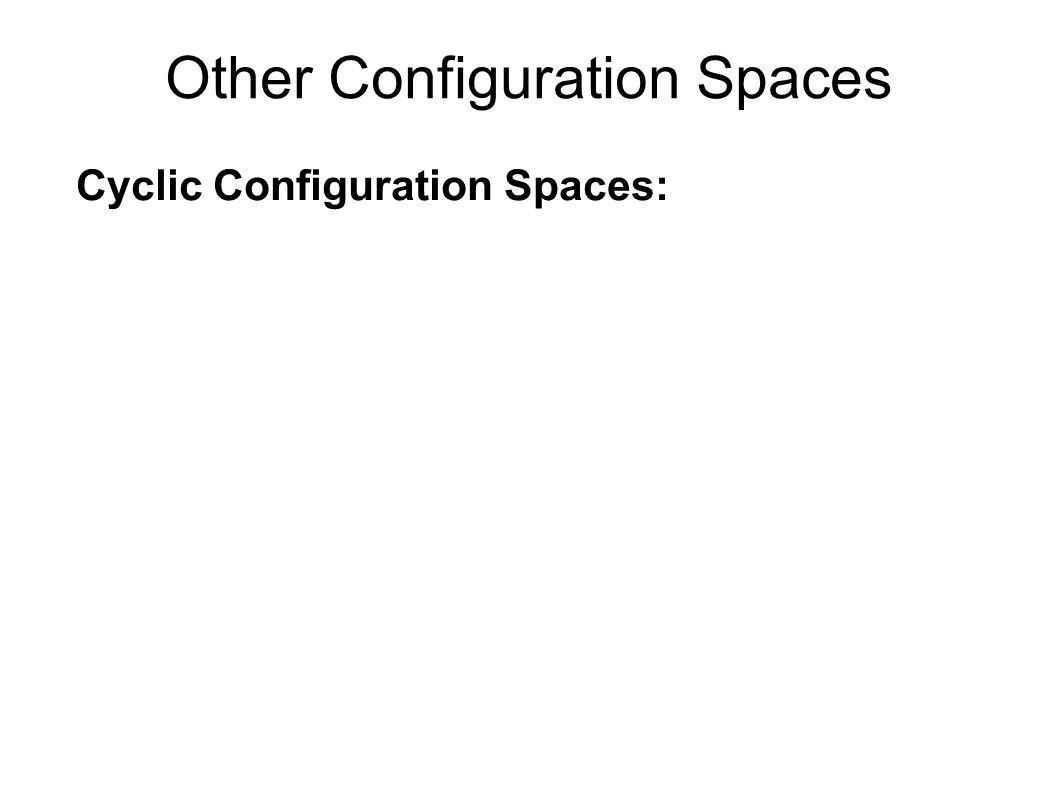 Cyclic Configuration Spaces: Other Configuration Spaces