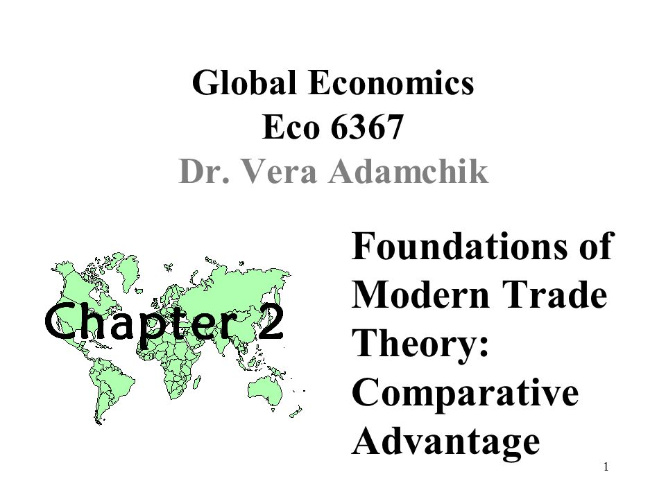 32 4. The standard modern theory of trade (based on increasing marginal costs)