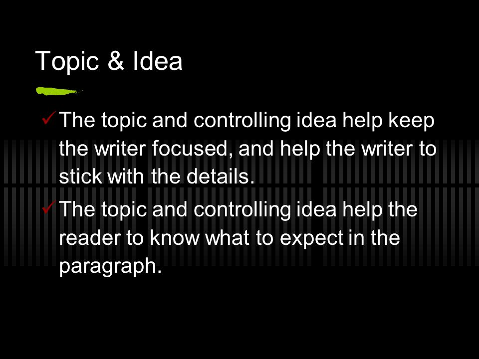 Help with a topic sentence!?